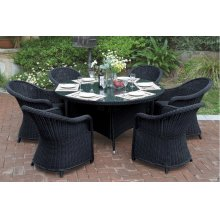 228 / Liz.p22- 7PC OUTDOOR PATIO TABLE SET [P50265(1)+P50134(6)]