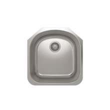 ProInox E350 Single Bowl Undermont Kitchen Sink ProInox E350 18-gauge Stainless Steel, 17-3/4'' X 18-1/2'' X 9''