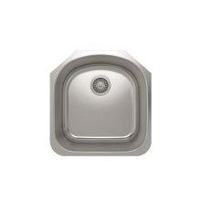 ProInox E350 Single Bowl Undermont Kitchen Sink ProInox E350 18-gauge Stainless Steel, 17-3/4'' X 18-1/2'' X 9''