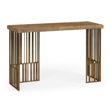 Rectangular Timberwolf Eggshell Console Table