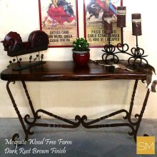 Mesquite Wood Console Large