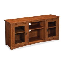 """San Miguel TV Console with Glass Doors and Open Center, San Miguel TV Console with Glass Doors and Open Center, 54"""""""