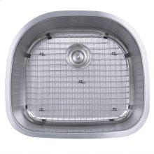 23 Inch D-Bowl Undermount Stainless Steel Kitchen Sink, 16 Gauge