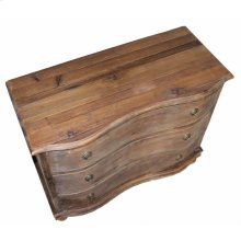 Pine Curved Front 3-Drawer Chest