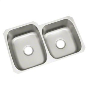 "McAllister® Undercounter Double-basin Kitchen Sink, 31-3/4"" x 20-3/4"" / 18"" Product Image"