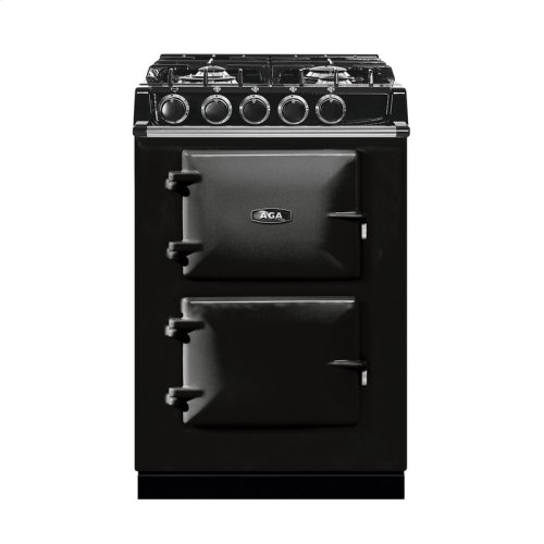 "AGA City 24"" Electric/Natural Gas Black with Stainless Steel trim"