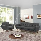 Engage Armchair and Sofa Set of 2 in Gray Product Image