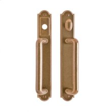 "Ellis Entry Sliding Door Set - 1 3/4"" x 11"" Silicon Bronze Brushed"