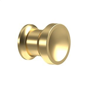 """Contemporary Knob, Chalice, 1"""" Diam. - PVD Polished Brass Product Image"""
