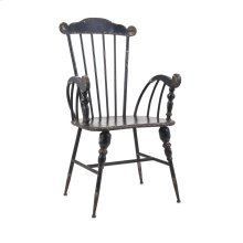 Trenton Black Metal Arm Chair