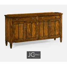 "34"" Country Walnut Four Door Sideboard"