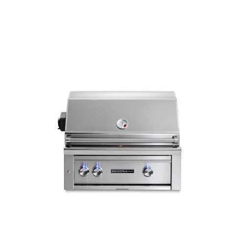 """30"""" Sedona by Lynx Built In Grill with 1 Stainless Steel Burner and ProSear Burner and Rotisserie, LP"""