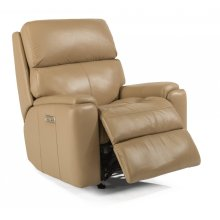Rio Leather Power Recliner with Power Headrest