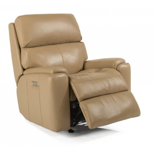 Rio Leather Power Rocking Recliner with Power Headrest