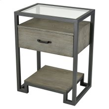 Mezzanine 1-drawer Accent Table In Pewter