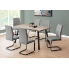 """DINING CHAIR - 2PCS / 39""""H / GREY FABRIC / BLACK METAL Product Image"""