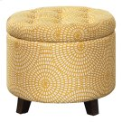 Storage Ottoman, Yellow Print Product Image
