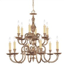 Novella 12 Light Olde Brass Chandelier