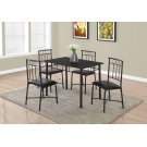DINING SET - 5PCS SET / BLACK METAL AND TOP Product Image