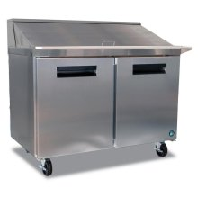 Refrigerator, Two Section Mega Top Prep Table