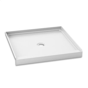 "Square acrylic shower base 36"" x 36"" - Central drain Product Image"