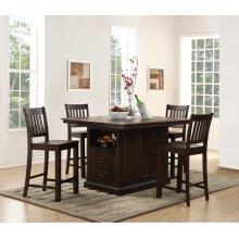 San Juan Island Table and 4 Counter Chairs