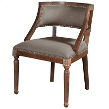 Revival Arm Chair  28in X 32in X 24in  Ash Cream Linen Fabric