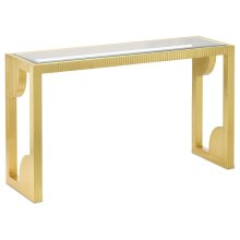Morneau Brass Console Table