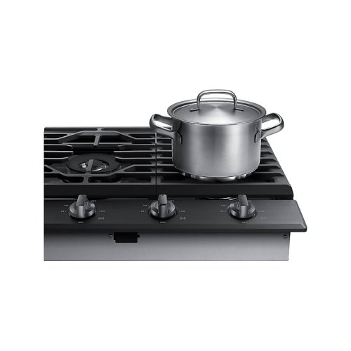 "36"" Gas Cooktop in Black Stainless Steel"