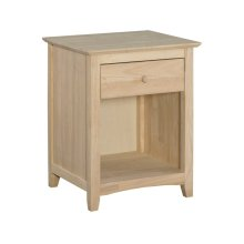 Unfinished Lancaster 1 Drawer Nightstand