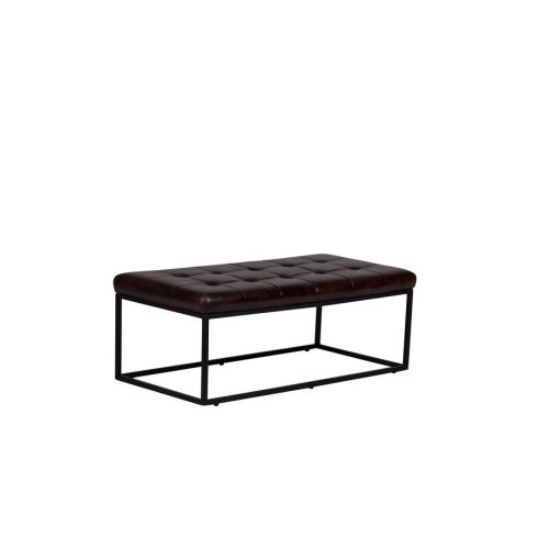 Karl Rectangular Leather Ottoman, 4354-H