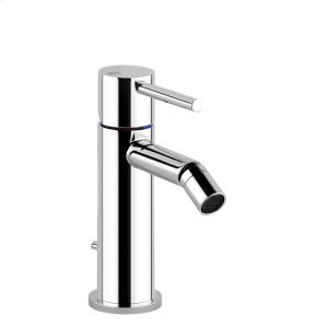 "Bidet mixer, with 1 1/4"" pop-up waste and flexible hoses with 3/8"" connections Product Image"