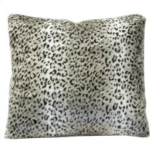 CHEETAH SILVER PILLOW  Down Feather Insert