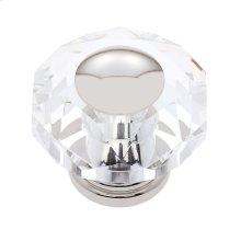 Polished Nickel 50 mm 8-Sided Crystal Knob