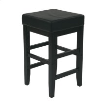 "25"" Square Barstool With Espresso Legs"