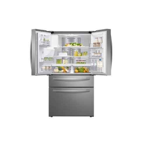 28 cu. ft. 4-Door French Door Refrigerator with Touch Screen Family Hub in Stainless Steel