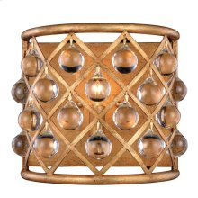 """Madison Collection Wall Sconce W:11.5"""" H:10.5"""" E:6.5"""" Lt:1 Golden Iron Finish Royal Cut Crystal (Clear)"""