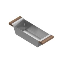 Colander 205224 - Stainless steel sink accessory , Walnut