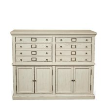 Huntleigh Server Vintage White finish