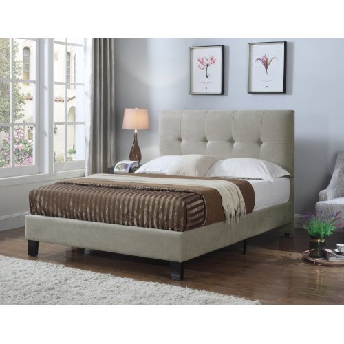 Emerald Home Harper Upholstered Bed Kit Queen Taupe B129-10hbfbr-05