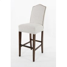 "Camel top barstool with small nails. 30"" barstools have a seat height of 30"" when measured"