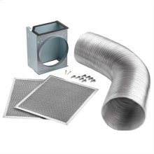 Non-duct kit for use with WTT32I30SB Hood Only