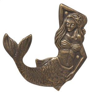 Mermaid Towel Hook (left) - French Bronze Product Image