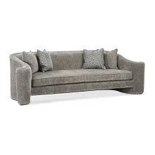 Rivoli Outward Curved Sofa, Upholstered in Cheers