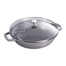 Staub Cast Iron 4.5-qt Perfect Pan, Graphite Grey