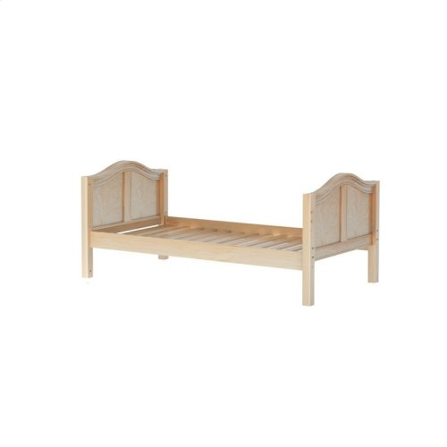 Basic Bed (Low/Low) : Twin : Natural : Curved