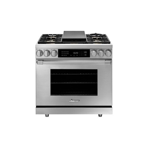 """36"""" Heritage Dual Fuel Pro Range, DacorMatch Natural Gas/High Altitude"""