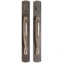 """Curved Push/Pull Set - 3 1/2"""" x 26"""" Silicon Bronze Brushed"""