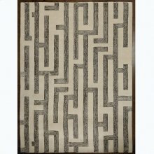 Labyrinth Rug-Grey-9 x 12