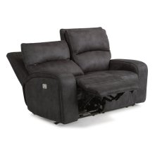 Rhapsody Fabric Power Reclining Loveseat with Power Headrests